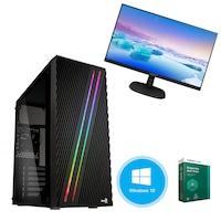 """Gaming PC Pro377, Asztali számítógép, Intel® Core™ I7 3,4 GHz, Memória kapacitás 16GB, Tárolási kapacitás 2TB HDD, videokártya GeForce GT710, Supercase, Windows 10 Home 64bit, Kaspersky Antivirus + Monitor 21.5"""" PHILIPS"""