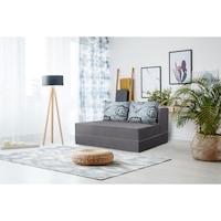 Канапе Urban Living Bedora, сиво / сиви цветя, 136 x 80 x 40 см