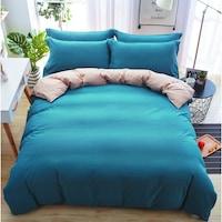 7Mall - SENDIA® Többféle színben pamut 6 részes ágyneműhuzat - kék