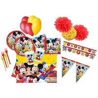 Set 25 accesorii petrecere, Procos, Mickey Mouse, Multicolor