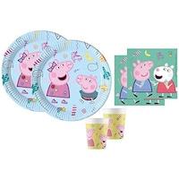 Set 6 accesorii petrecere, Decorata party, Peppa Pig, Multicolor