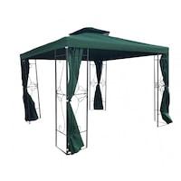 Градински метален павилион My garden TLC150-A, Зелен, 3x3m