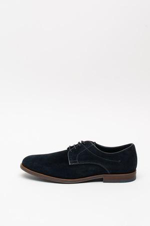 Geox, Pantofi chukka din piele intoarsa Bayle, Bleumarin, 45