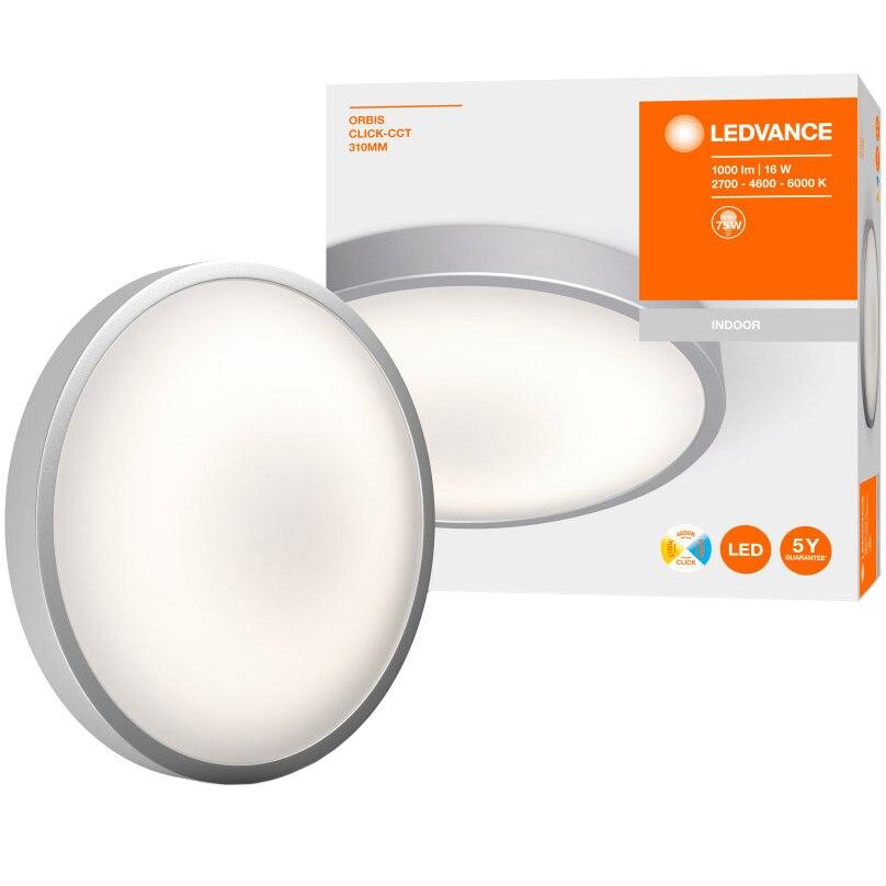 Fotografie Plafoniera LED Ledvance Orbis Click-CCT, 16W (75W), 1000 lm, A+, temperatura lumina reglabila (2700K/4000K/6000K), IP20, montaj aplicat, 310 mm