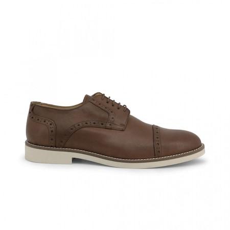 Pantofi barbati, Made in Italia, 607_PELLE, Maro, 43