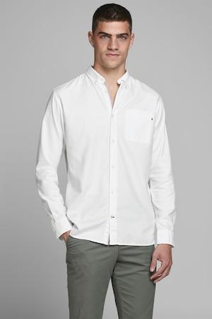 Jack & Jones, Normál fazonú ing legombolható gallérral, Fehér, L