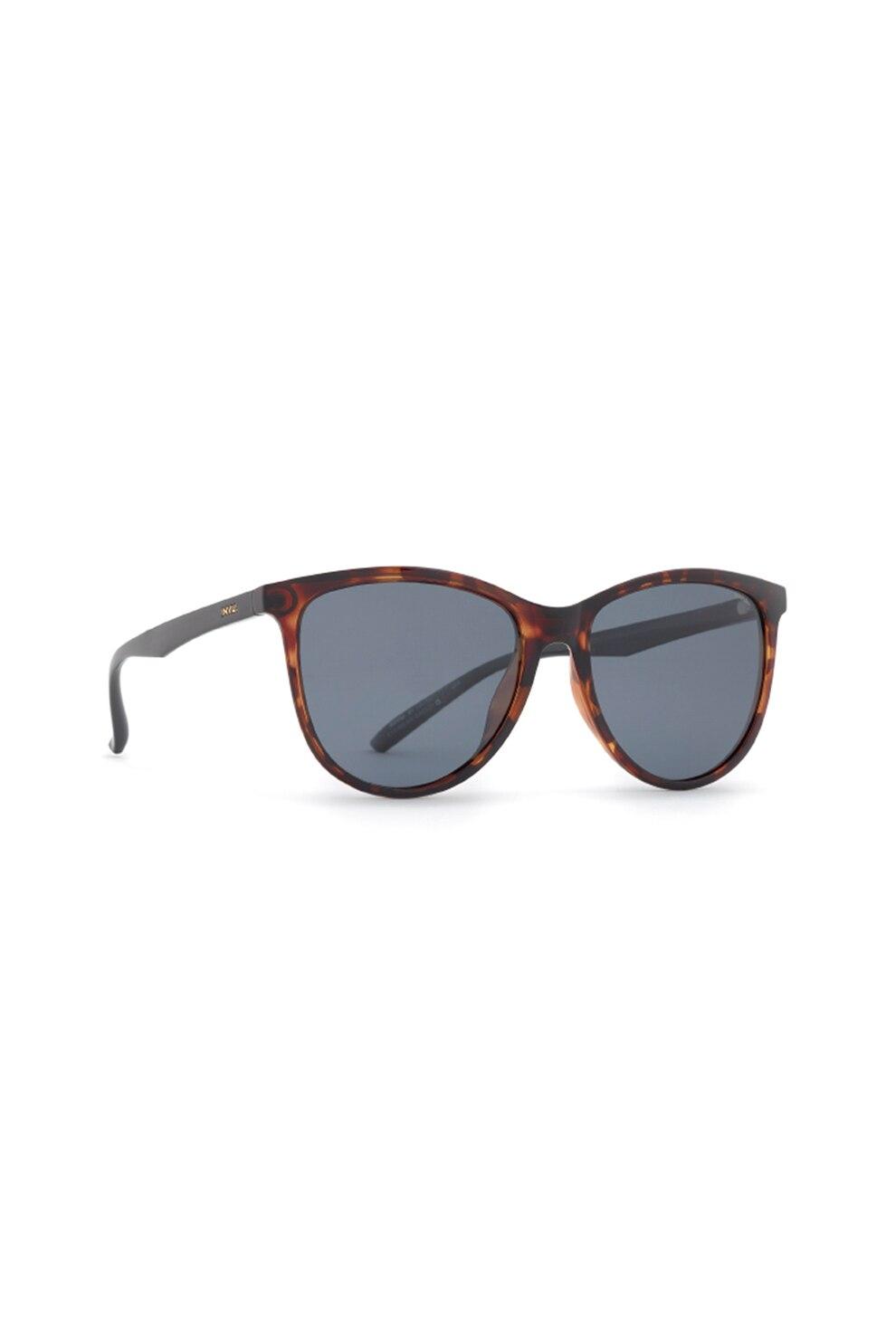 Fotografie INVU., Ochelari de soare cat-eye polarizati, cu lentile uni, Maro inchis/Oranj, 55-17-143 Standard