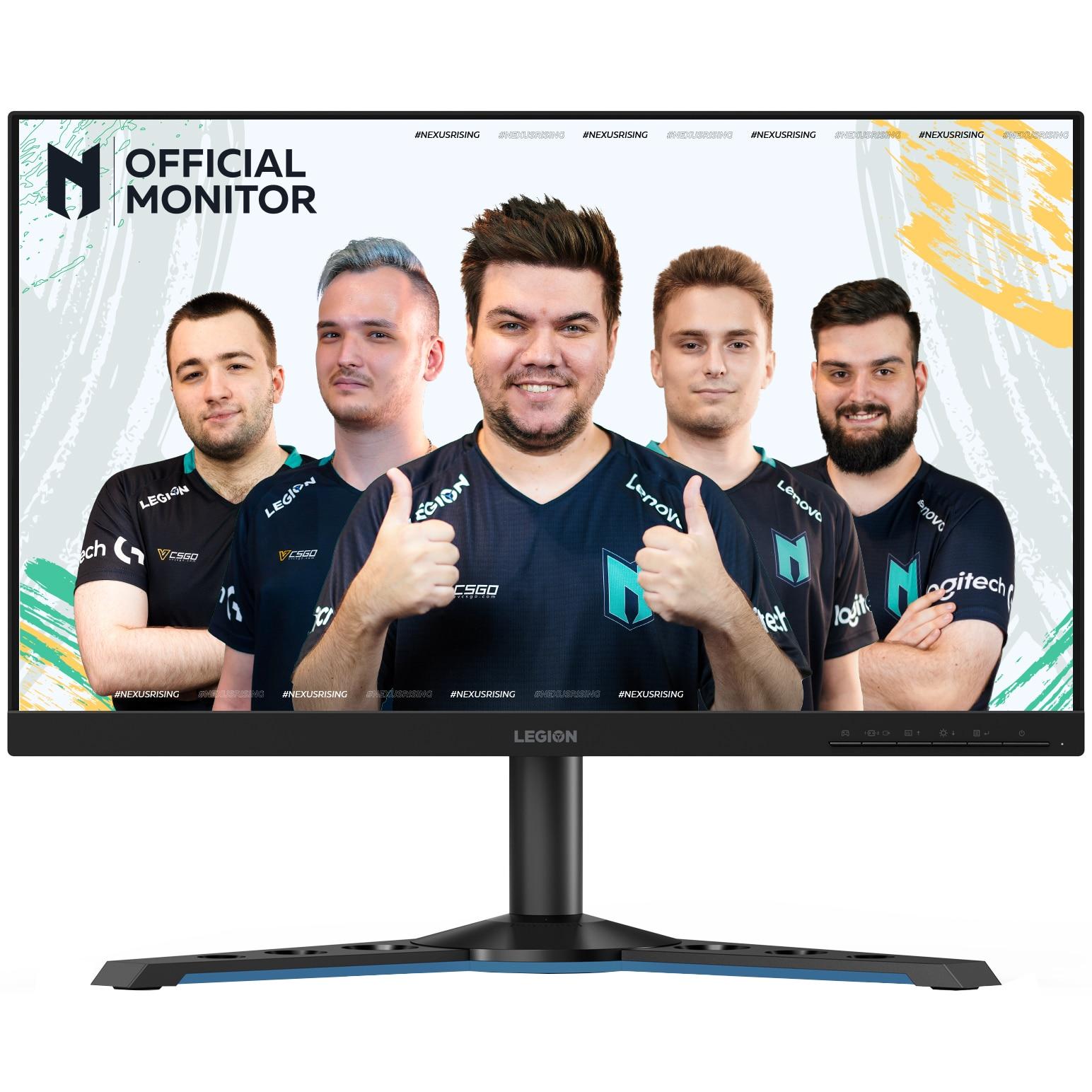"Fotografie Monitor Gaming LED IPS Lenovo Legion 24.5"", Full HD, FreeSync, 1ms, 240Hz, 400 cd/m², Pivot, Negru, Y25-25"