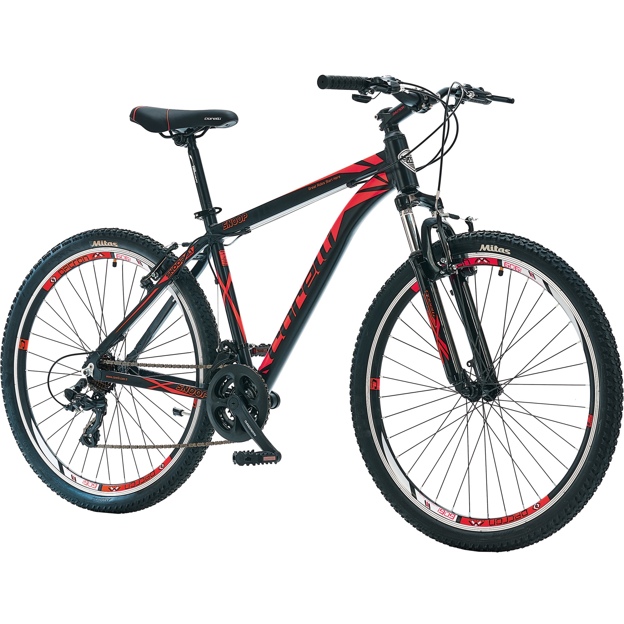 "Fotografie Bicicleta MTB 27.5"" SNOOP 3.1, marime cadru L, negru-rosu"