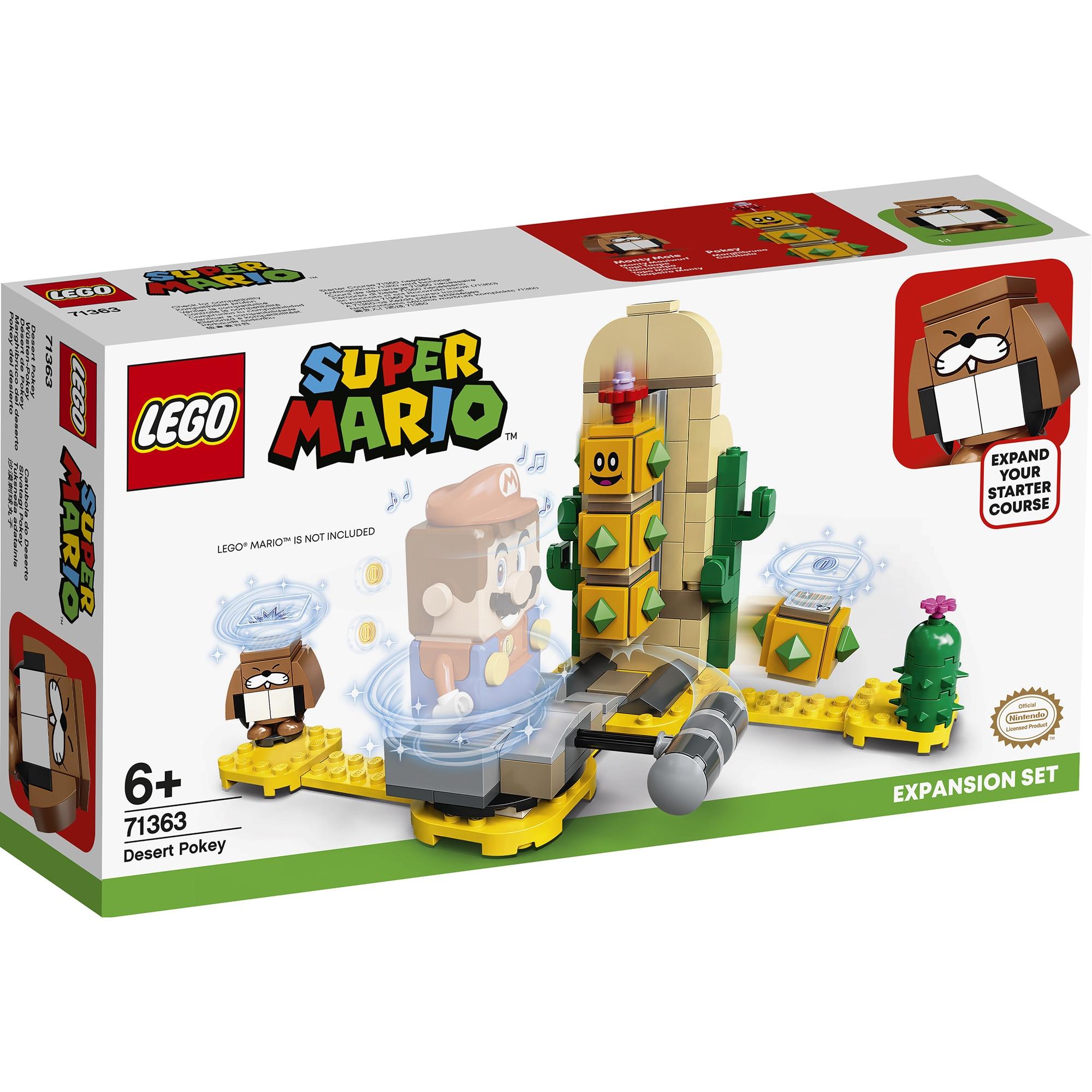 Fotografie LEGO Super Mario, Set de extindere - Desert Pokey 71363, 180 piese