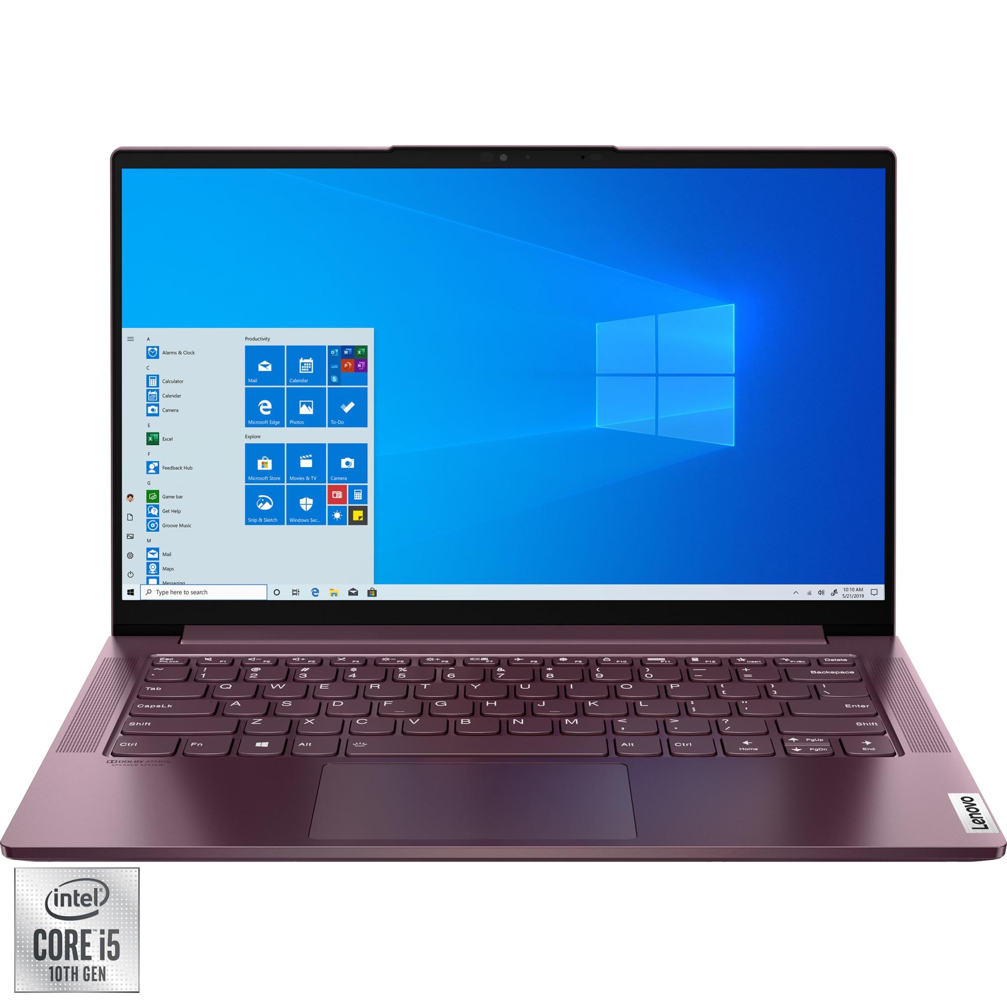 "Fotografie Laptop Lenovo Yoga Slim 7 14IIL05 cu procesor Intel® Core™ i5-1035G4, 14"" Full HD, 16GB, 1TB SSD, Intel® Iris® Plus Graphics, Windows 10 Home, Orchid"