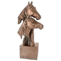 Декоративна фигура, Глави на коне, 22284, 17х35см