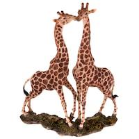 Декоративна фигура, Двойка жирафи, Многоцветен, 22292, 33х33см