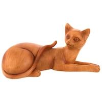 Декоративна фигура, Котка, Полисмоли, 20503, 23х12см