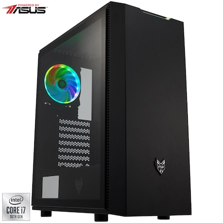 Sistem Desktop PC Gaming Serioux Powered by ASUS cu procesor Intel® Core™ i7-10700 pana la 4.80GHz, 16GB DDR4, 512GB SSD + 2TB HDD, GeForce® RTX 2070 8GB GDDR6