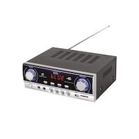 SAL Multimédia erősítő BTA 240 Dinamikus Hi-Fi hangzás, mini HI-FI erősítő klasszikus tranzisztoros erősítő Fm rádió,MP3 lejátszó USB SD olvasó 2x mikrofon bemenet ,Bluetooth 5.1-s