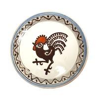 Farfurie din ceramica de Horezu, Cocosul de Hurez, model 4250, Ø 190 mm