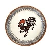 Farfurie din ceramica de Horezu, Cocosul de Hurez, model 4255, Ø 190 mm