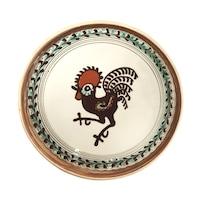 Farfurie din ceramica de Horezu, Cocosul de Hurez, model 4270, Ø 190 mm