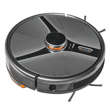 Робот прахосмукачка Concept VR3110, Лазерна навигация, Автономия 180 мин, 2 контейнера: 1 контейнер за прах 600 мл, 1контейнер за вода 300 мл , 3200 mAh, Сензори TOF, 3 етапа на филтриране с HEPA филтър 13, Време за зареждане 4-5 часа, RoomPlan