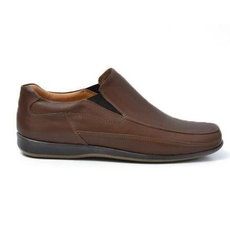 Pantofi barbati fara siret Maro Inchis,Model 432, din Piele Naturala 42EU