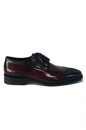 Pantofi barbati, 4 Men Ceremony, Piele naturala, bordo semilucios, 38 EU
