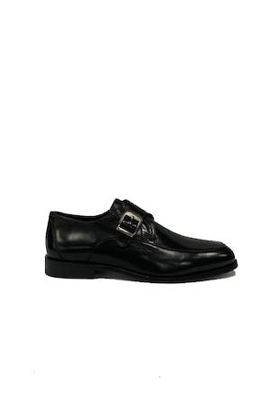 Pantofi barbati, 4 Men Ceremony, Piele naturala, negru mat , 41 EU