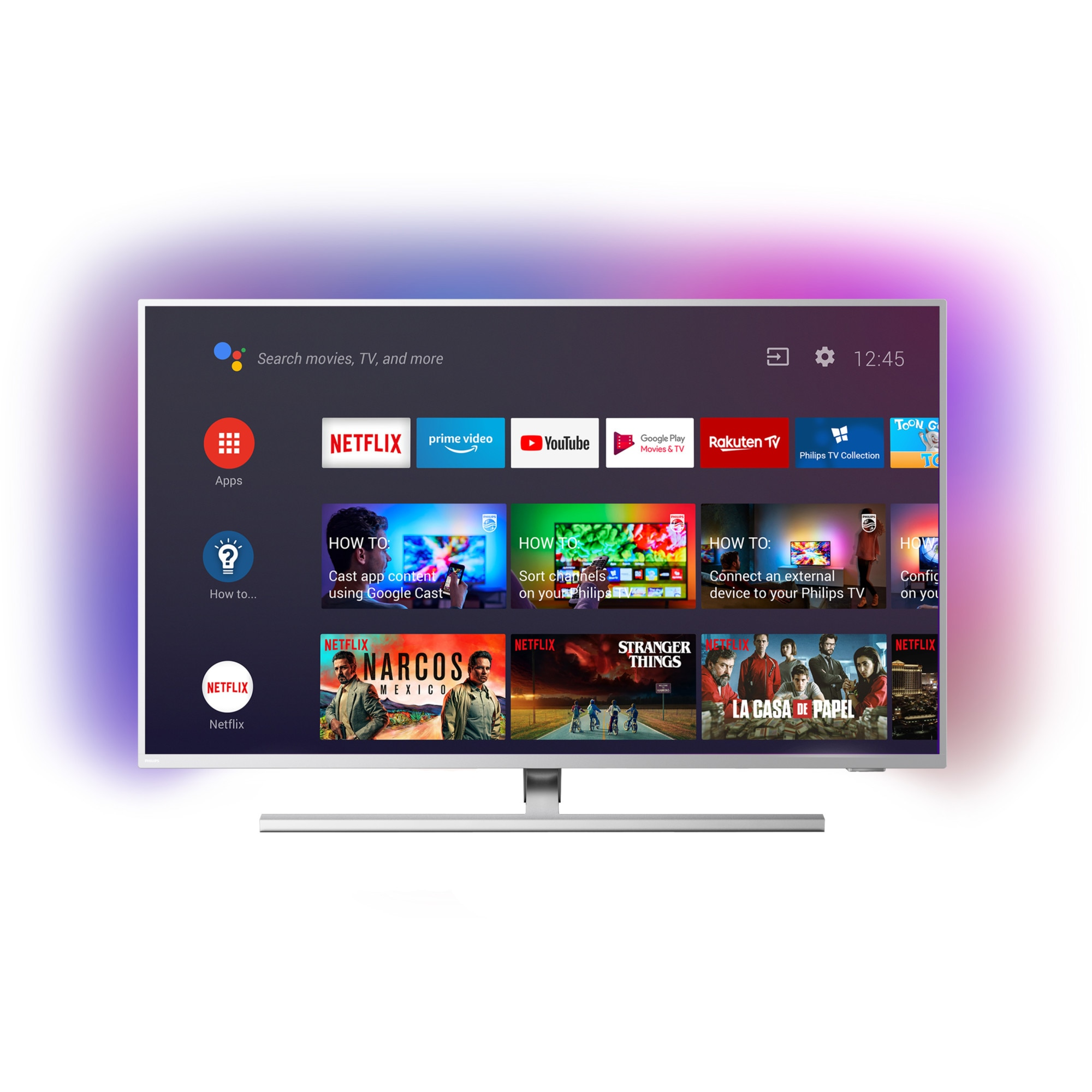 Fotografie Televizor Philips 43PUS8505/12, 108 cm, Smart Android, 4K Ultra HD, LED, Clasa G