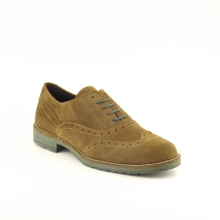 Pantofi casual NewDesign 4583, camel, piele naturala, 43