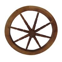 Roata din lemn pentru gradina, artizanat, decoratiune, handmande, 56 diametru, maro