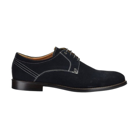 Pantofi Casual, Model VL1, Derby, Albastru Denim, din Piele Intoarsa Naturala 40EU