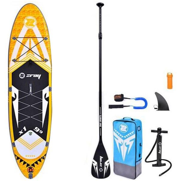 Fotografie Set placa gonflabila Stand Up PaddleBoard Z-RAY X-Rider, 297*81*15 cm, cu pompa si sac pentru transport incluse