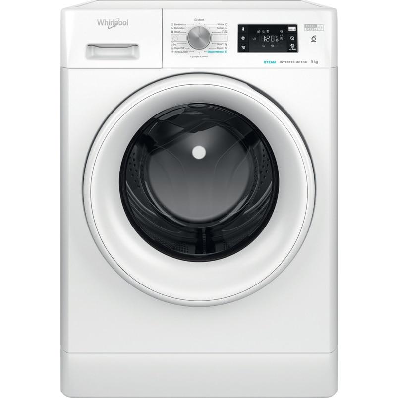 Fotografie Masina de spalat rufe Whirlpool FFB9448WVEE, 9kg, 1400 RPM, Clasa C, Tehnologia al-6lea Simt, Motor Inverter, FreshCare+, Steam Refresh,Alb