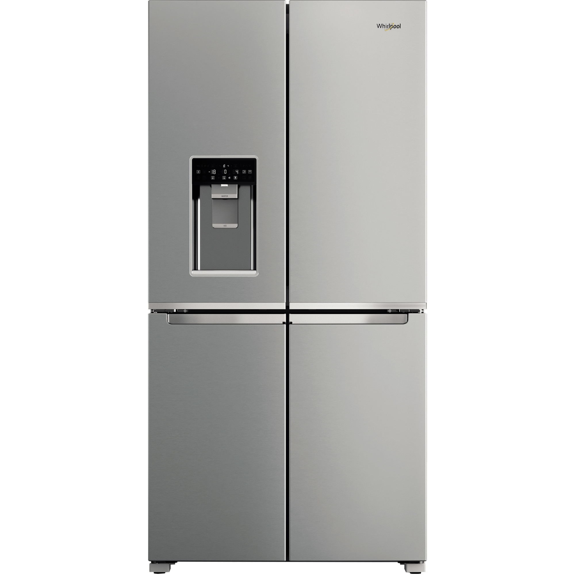 Fotografie Side by Side Whirlpool WQ9IMO1L, 592 l, Full No Frost, Clasa F, Flexy Freeze, Ice dispencer, Inox