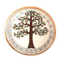 Farfurie din ceramica de Horezu, Pomul vietii, model 4281, Ø 190 mm