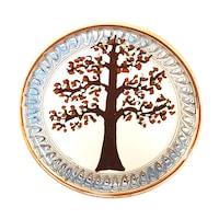 Farfurie din ceramica de Horezu, Pomul vietii, model 4280, Ø 190 mm