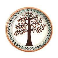 Farfurie din ceramica de Horezu, Pomul vietii, model 4283, Ø 190 mm