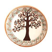 Farfurie din ceramica de Horezu, Pomul vietii, model 4285, Ø 190 mm