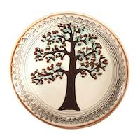 Farfurie din ceramica de Horezu, Pomul vietii, model 4291, Ø 190 mm