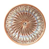 Farfurie din ceramica de Horezu, Coada de paun, model 4296, Ø 190 mm