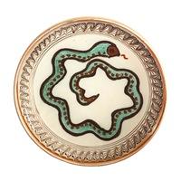 Farfurie din ceramica de Horezu, Sarpele casei, model 4311, Ø 190 mm