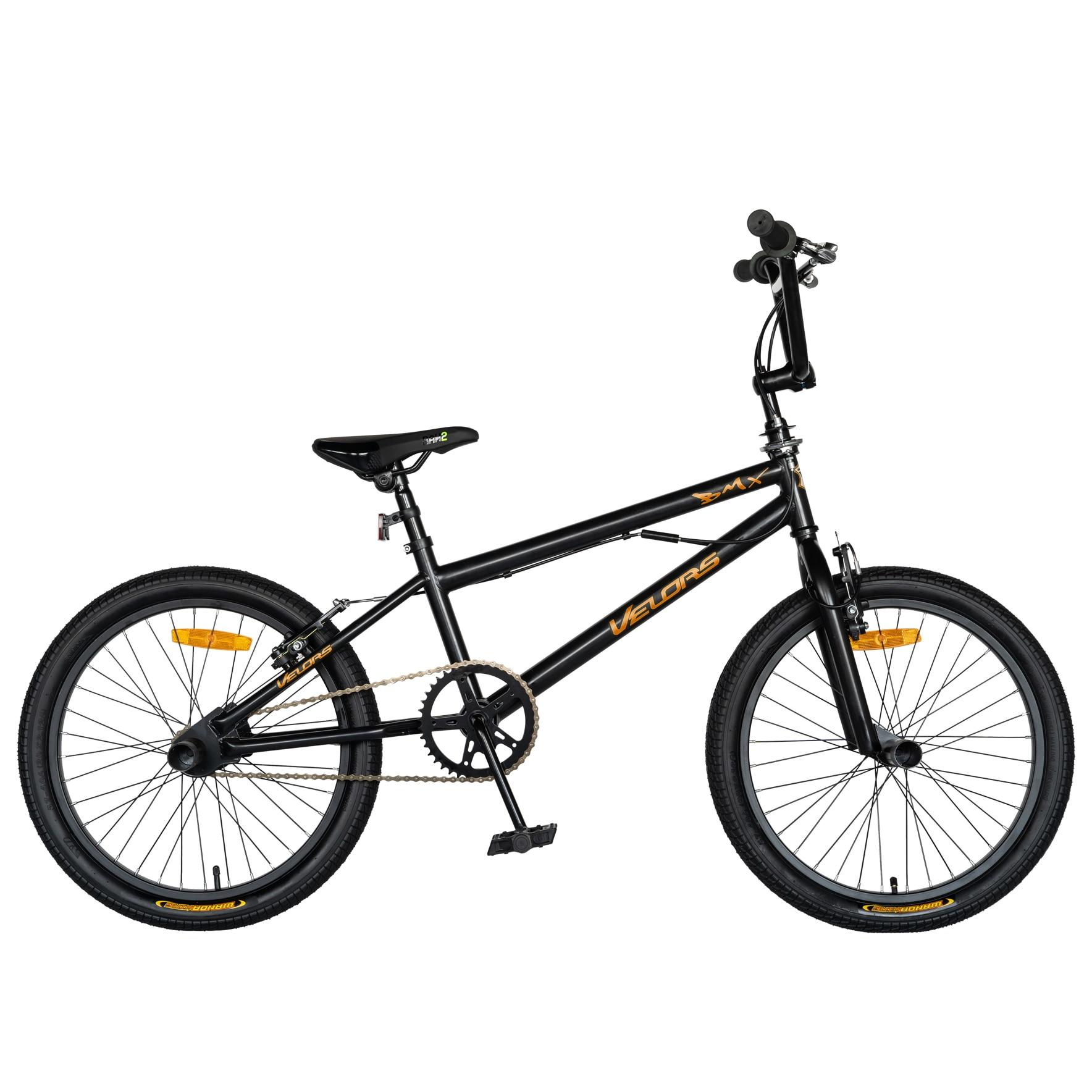 Fotografie Bicicleta BMX Carpat V2016A Peg-uri incluse, Negru/Portocaliu