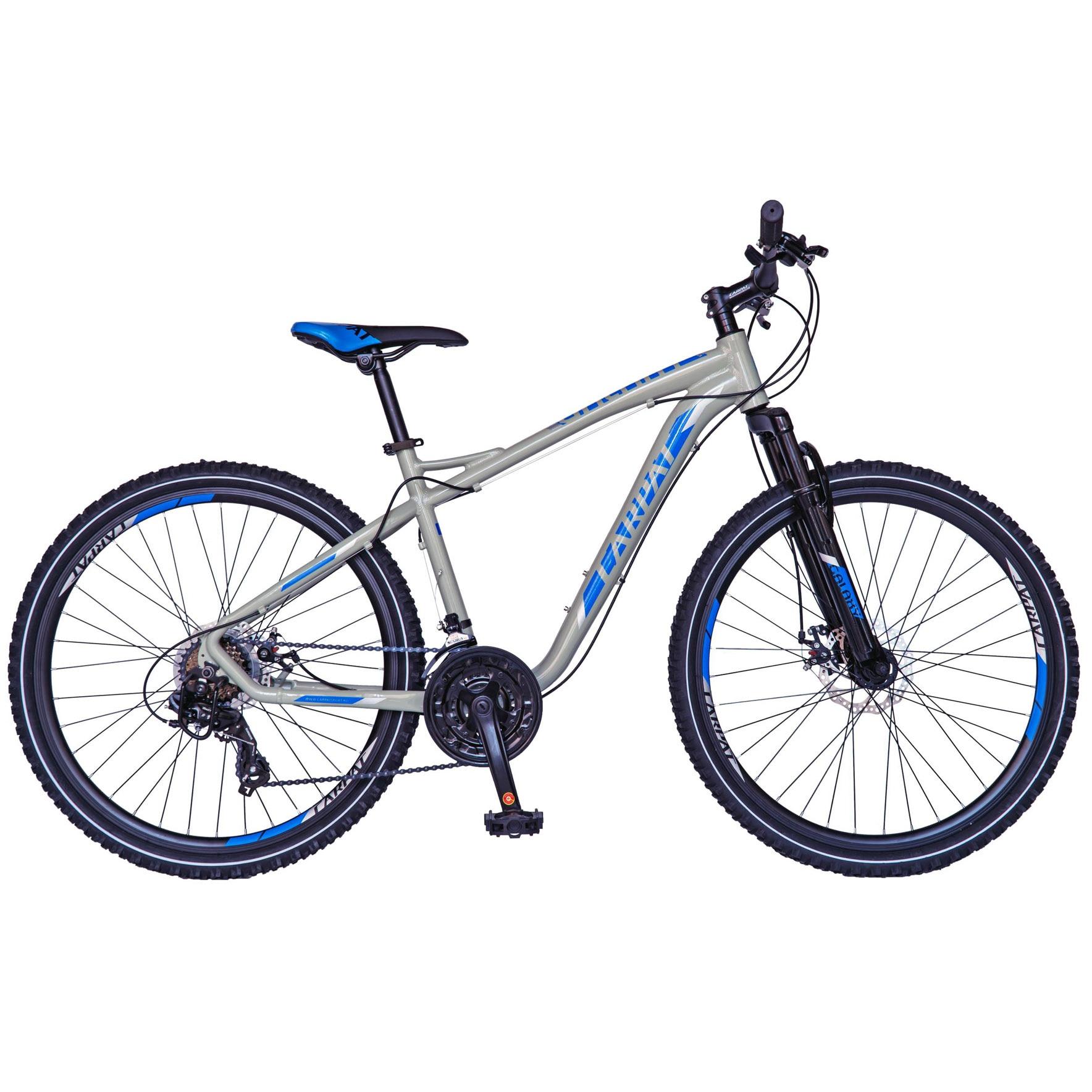 "Fotografie Bicicleta MTB 26"" Carpat C2693B cadru AL, frana disc, transmisie Shimano, Gri/Albastru"