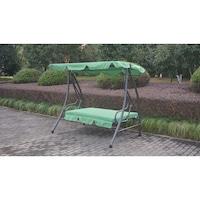 Люлка със сгъваема облегалка за градина/тераса Kring Sorrento, 160x120x164 см, Зелен