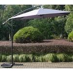 Окачен чадър за тераса / градина Kring Ranas, Диаметър 300 см, Сив
