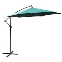Окачен чадър за тераса / градина Kring Ranas, Диаметър 300 см, Зелен