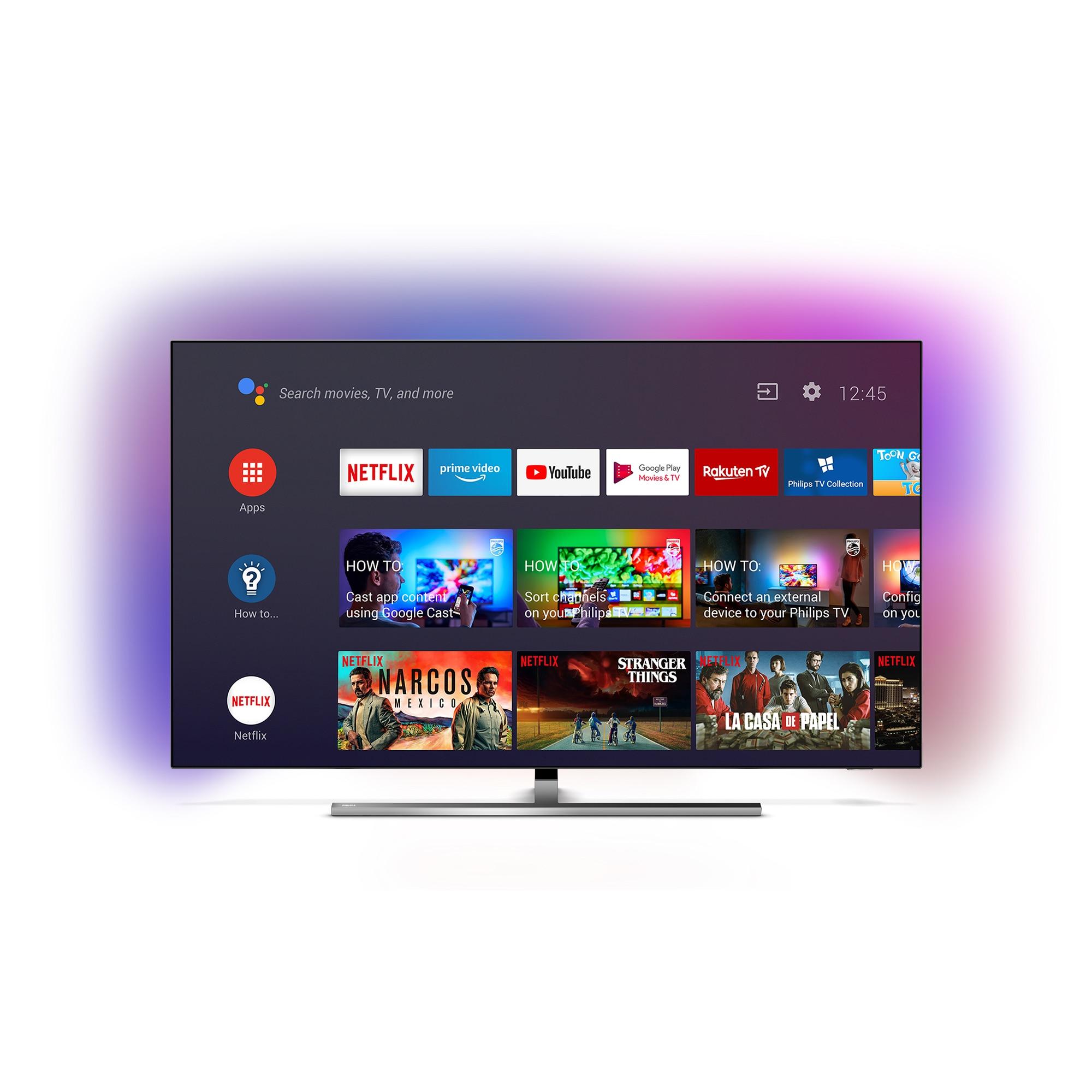 Fotografie Televizor Philips 55OLED855/12, 139 cm, Smart Android, 4K Ultra HD, OLED, Clasa G
