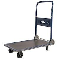 FERM 4 kerekes összecsukható szállító kocsi 150 kg teherbírással