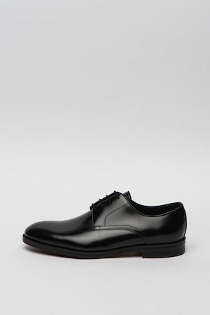 Clarks, Pantofi Derby de piele Oliver, Negru, 7