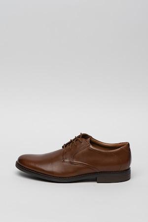 Clarks, Becken derby bőrcipő, Karamellbarna, 8